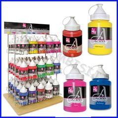 Colori acrilici 6 flaconi ml.250 col.ass