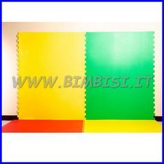 Protezione murale evawall puzzle giallo lastra 100x150h sp.1 cm ignifuga