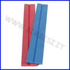 Paraspigolo eva v barra 150cm sp.1cm rosso ignifugo classe 1