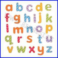 Lettere magnetiche - minuscole pz. 63