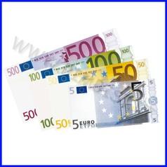 Euro banconote scatola 144 pezzi assort.