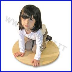 Attrezzi ginnici legno disco con ruote
