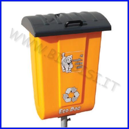 Contenitore per defezioni canine 50 lt con palo zincato