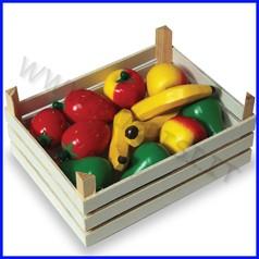 Alimenti in legno cassetta 12 frutti ass
