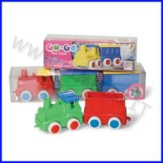Go-go trenino locomotiva + 2 vagoni conf. regalo