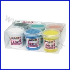 Colori a dita cf 6 barattoli 150 ml in colori assortiti