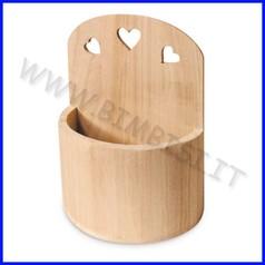 Supporti in legno: vaso da appendere cm.17x15x25