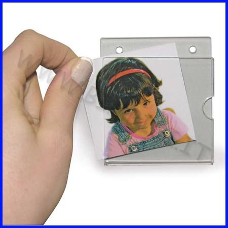 Contrassegni/portafoto adesivo plexiglas dim.cm 7x8.5h
