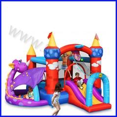 Castello gonfiabile happyhop draghetto dim.cm 350x350x245