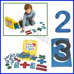 Set aritmetica in feltro valigetta 72 pz