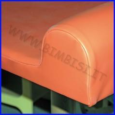 Materassino con sponde cm.120x70x12h x fasciatoio linea milano c/s scala