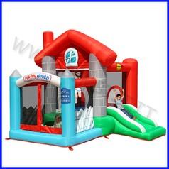 Castello gonfiabile happyhop happy casa dim.cm 270x250x220