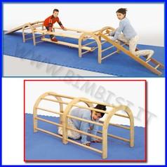 Attrezzi ginnici legno arco per percorsi ginnici