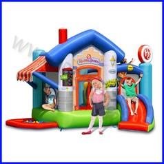 Castello gonfiabile happyhop happy store dim.cm 370x320x240