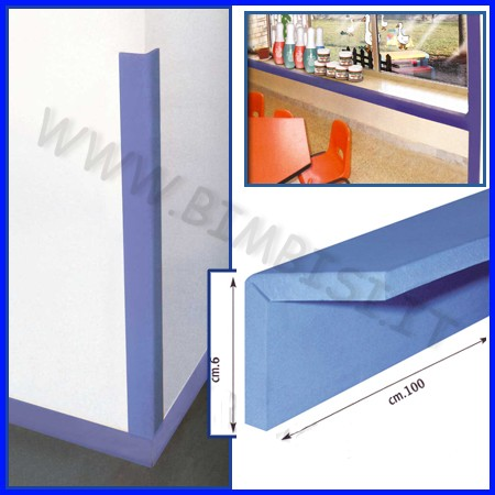 Paraspigoli in eva cf 4pz + colla 100ml dim.cm 100x12 sp.1 colore blu
