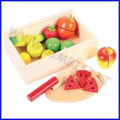 Alimenti in legno cassetta taglia la frutta 10 pezzi