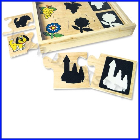 Puzzle legno luci e ombre