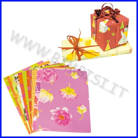 Carta regalo 10 fg cm.70x100 assortiti