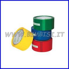 Nastro adesivo color mm.50x66mt - rosso