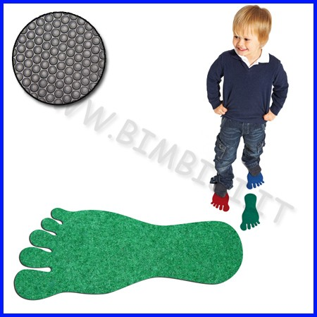 Orme motorie piedi in feltro set 12 pz colori assortiti