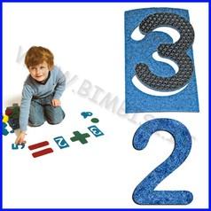 Numeri positivi e negativi - set 20 pezzi per set arimetica in feltro
