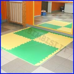 Pavimentazione antitrauma eva 100x100x1 ignifuga