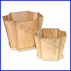 Supporti in legno: porta vasi set 2 pz fino ad esaurimento