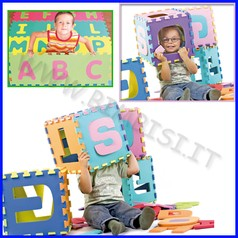 Puzzle in eva lettere set 26 pz