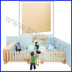 Elemento imbottito a parete da 65 a 130 cm 65-130x4x130