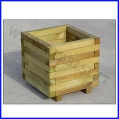 Fioriera in legno sole 40x40x40h cm