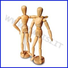 Manichino legno con base h cm 31 uomo