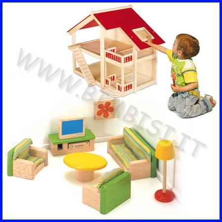 Casa delle bambole - salotto 10 pz