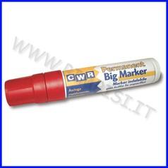 Marker permanente punta scalpello rosso