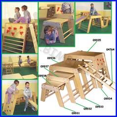 Attrezzi ginnici legno cm.88x75,5x55h