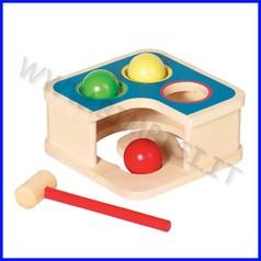 Batti-ribatti in legno cm.18x18x8,3