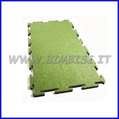 Erba sintetica puzzle mattonella HIC1,70 cm 94,7 x 184,5 sp4 + erba EN1177