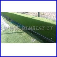 Paraspigolo erba sintetica barra 200 cm cm 8+8 sp.4,5 + erba EN1177