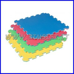 Tappeto incastro evafloor cm 52x52x1.5 rosso/blu ignifugo