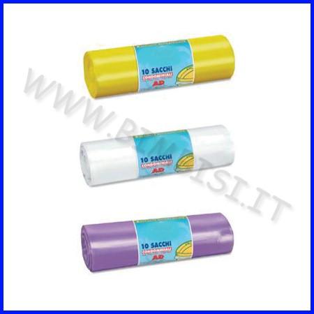 Sacco immondizia cm.70x110 - conf.10 pz. - giallo