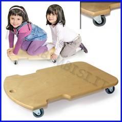 Attrezzi ginnici legno carrello c/ruote