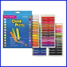 Gessi policromi - scatola 48 pz. - colori assortiti