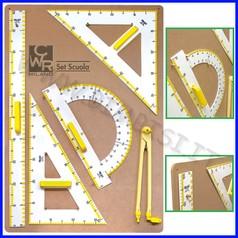 Accessori scolastici per lavagne set 5 strumenti tecnici