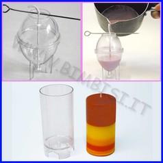 Stampo candele cilindro diam.5x10 cm