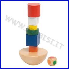 Gioco equilibrio torre in legno - sacchetto cotone (8 pz.)