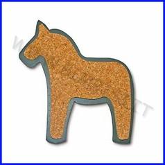 Sottopentola legno/sughero cm.17-cavallo