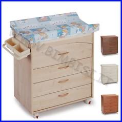 Fasciatoio cassettiera legno luna pleban cm 95x47x100h