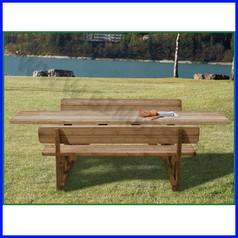 Tavolo/panche corpo unico 194cm/tavolo 300 cm per diversamente abili