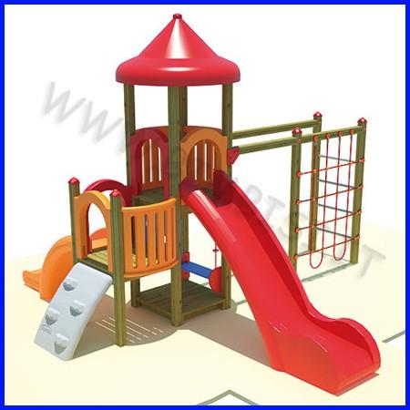 Aladin n.2 torre rampa h84/scivoli h 84 144 + palestra