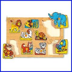 Puzzle legno - animali