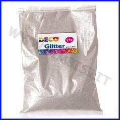 Glitter grana fine busta kg.1 argento